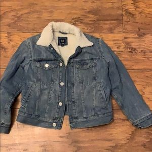 GAP Boys Denim Jacket Button Down Size Medium